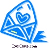 Vector Clipart image  of a Valentines card