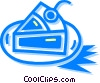 Vector Clip Art image  of a piece of pie