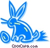Vector Clip Art image  of a Easter Bunny