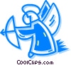 Vector Clipart picture  of a Christmas angel
