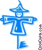 Vector Clipart graphic  of a scarecrow