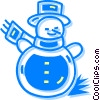 Vector Clip Art graphic  of a snowman