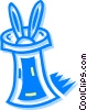 Vector Clip Art image  of a rabbit in a magicians hat