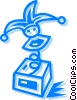 Vector Clipart graphic  of a jack-in-the-box