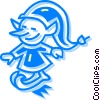 Vector Clip Art image  of a elf
