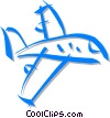 Vector Clipart picture  of a commercial planes