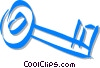 skeleton key Vector Clip Art graphic