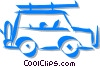 family SUV Vector Clipart graphic