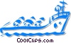 Vector Clip Art graphic  of a oil tanker