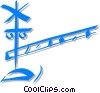 railway crossing Vector Clipart illustration