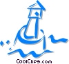 bell buoy Vector Clipart illustration