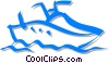 Vector Clipart illustration  of a personal watercraft