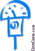 parking meter Vector Clip Art graphic