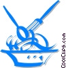 Vector Clip Art image  of a bowl of spaghetti