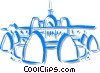 Vector Clip Art picture  of a church