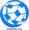 Vector Clipart image  of a soccer ball