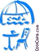 cafe with table and chair Vector Clipart graphic