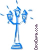 Vector Clip Art picture  of a streetlight