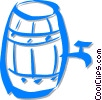 Vector Clip Art image  of a wine barrel
