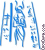 Vector Clipart graphic  of a Egyptian sculpture