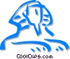 Vector Clip Art graphic  of a sphinx