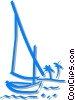 Vector Clip Art graphic  of a sailboat