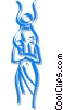 Vector Clipart picture  of a Egyptian people