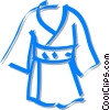 Vector Clipart graphic  of a Japanese kimono