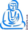 Vector Clipart graphic  of a Buddha