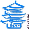 Vector Clipart picture  of a pagoda/temple
