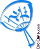 Vector Clipart picture  of a Japanese fan