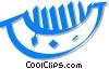 Vector Clip Art image  of a comb