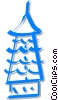 Vector Clipart illustration  of a pagoda/temple