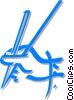 Vector Clipart picture  of a hand holding chopsticks