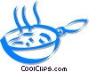 frying pan Vector Clip Art image