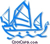 Vector Clip Art graphic  of a Chinese junk