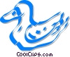 Vector Clipart image  of a duck