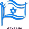 flag of Jerusalem Vector Clipart illustration