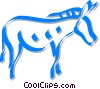 Vector Clip Art image  of a donkey