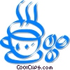Vector Clip Art graphic  of a cup of coffee with coffee
