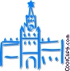 European building Vector Clipart image