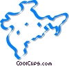 Vector Clipart graphic  of a international map
