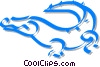 Vector Clip Art image  of an alligator