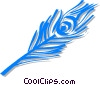 Vector Clip Art image  of a peacock feather