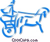 chariot Vector Clip Art graphic