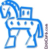 Vector Clip Art graphic  of a Trojan horse