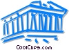 Vector Clip Art image  of a Parthenon