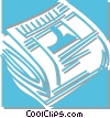 Vector Clipart graphic  of a newspaper