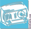 radio Vector Clip Art graphic