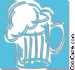 Vector Clipart image  of a mug of beer